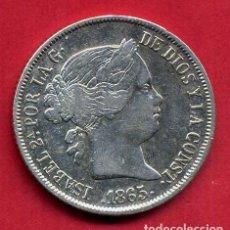 Monedas de España: MONEDA PLATA , ISABEL II , 40 CENTIMOS DE ESCUDO 1865 , SEVILLA , MBC , ORIGINAL , B24. Lote 137545922