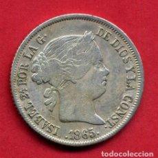 Monedas de España: MONEDA PLATA , ISABEL II , 40 CENTIMOS DE ESCUDO 1865 , MADRID , MBC , ORIGINAL , B24. Lote 137546058