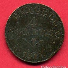 Monedas de España: MONEDA COBRE , 4 CUARTOS , BARCELONA , 1811 , MBC , ORIGINAL , B24. Lote 137550106