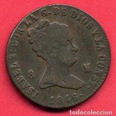 Monedas de España: MONEDA COBRE , ISABEL II , 8 MARAVEDIS 1846 , JUBIA , MBC , ORIGINAL , B24. Lote 137550822