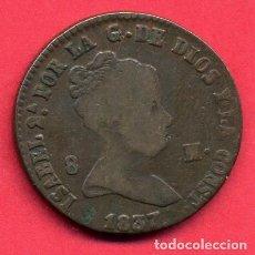 Monedas de España: MONEDA COBRE , ISABEL II , 8 MARAVEDIS 1837 , SEGOVIA , MBC , ORIGINAL , B24. Lote 137551002