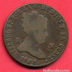 Monedas de España: MONEDA COBRE , ISABEL II , 8 MARAVEDIS 1838 , SEGOVIA , MBC , ORIGINAL , B24. Lote 137551178