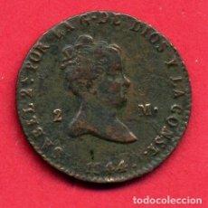 Monedas de España: MONEDA COBRE , ISABEL II , 2 MARAVEDIS 1844 , SEGOVIA , MBC , ORIGINAL , B24. Lote 137552366