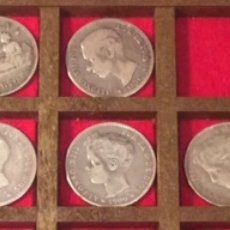 Monedas de España: LOTE DE PESETAS DE PLATA. Lote 137572242