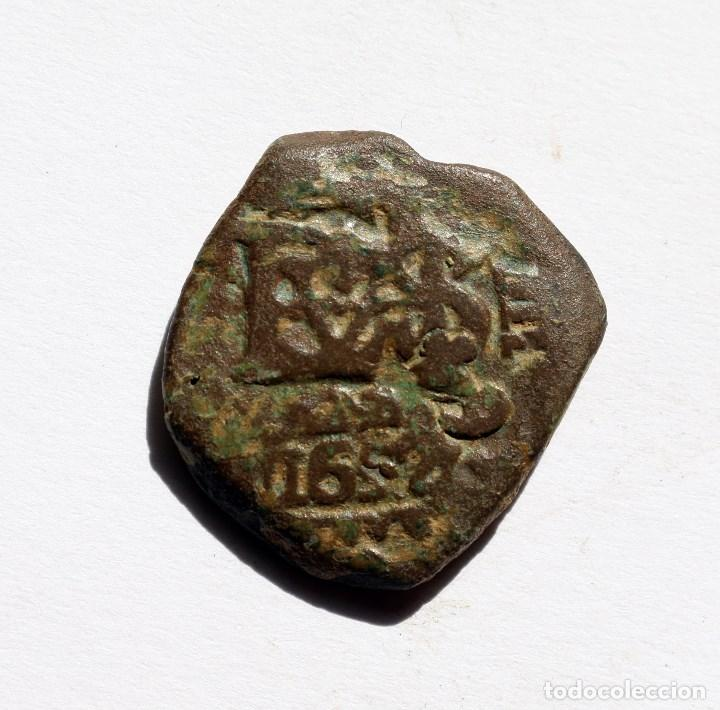 RARO RESELLO 8 MARAVEDIS 1652 A 1659 FELIPE IV (Numismática - España Modernas y Contemporáneas - De Reyes Católicos (1.474) a Fernando VII (1.833))