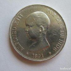 Monedas de España: ALFONSO XIII * 5 PESETAS 1891*91 PG M * PLATA. Lote 137692798