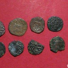 Monedas de España: LOTE DE 8 DINEROS DE GIRONA. AUSTRIAS.. Lote 137879104