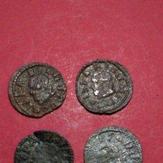 Monedas de España: LOTE DE 4 DINEROS DE BARCELONA. FELIPE IV.. Lote 137880200