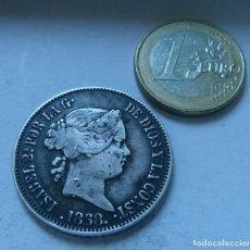 Moedas de Espanha: MONEDA DE PLATA DE 50 CENTAVOS DE PESO DE ISABEL II FILIPINAS AÑO 1868. Lote 138049706