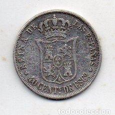 Monedas de España: ISABEL II. 40 CÉNTIMOS DE ESCUDO. AÑO 1867. MADRID. PLATA.. Lote 138565442