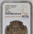 Monedas de España: ¡¡ MUY ESCASA !! MONEDA DE 8 REALES DE FELIPE II. CECA DE TOLEDO. ENSAYADOR M.. Lote 63901859