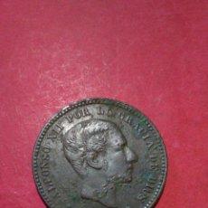 Monedas de España: ALFONSO XII. 5 CENTIMOS DE 1877. BUEN EJEMPLAR. ADMITE LIMPIEZA. MBC+.. Lote 138651986