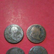 Monedas de España: LOTE DE 4 MONEDAS DE 2 MARAVEDIS. CARLOS IV Y FERNANDO VII.. Lote 138654026