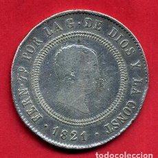 Monedas de España: MONEDA PLATA , 10 REALES FERNANDO VII , 1821 , RESELLADO MADRID , MBC- , ORIGINAL , M1225. Lote 138670862