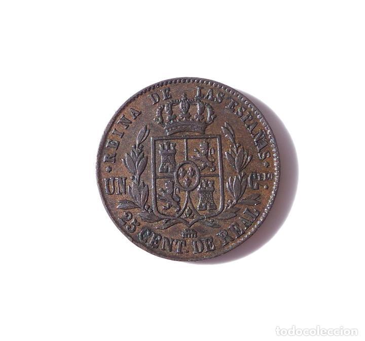 Monedas de España: ISABEL II - 25 CENTIMOS DE REAL SEGOVIA 1862 - MBC - Foto 2 - 138671222