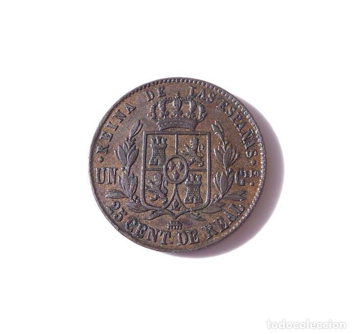 Monedas de España: ISABEL II - 25 CENTIMOS DE REAL SEGOVIA 1862 - MBC - Foto 4 - 138671222