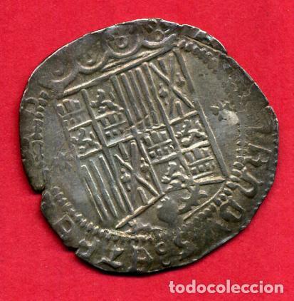 Monedas de España: MONEDA PLATA , REYES CATOLICOS , 1 REAL GRANADA , ANVERSO CRUCES , MBC+ , ORIGINAL , M1228 - Foto 2 - 138671826