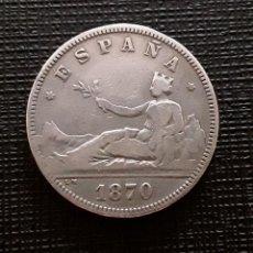 Monedas de España: I REPÚBLICA 2 PESETAS PLATA 1870*18-73 DEM MBC. Lote 138760758