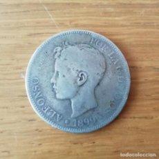 Monedas de España: DURO DE 5 PESETAS DE PLATA DE 1899. Lote 138935362