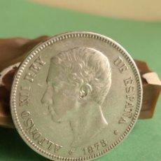 Monedas de España: MONEDA PLATA 5 PESETAS ALFONSO XII 1875 ESTRELLAS 18 75 REF.7. Lote 136477946