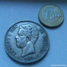 Monedas de España: MONEDA DE PLATA DE 5 PESETAS DE AMADEO DE SABOYA AÑO 1871 *18*73. Lote 205702393