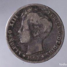 Monedas de España: N009.- ALFONSO XIII. 1 PESETA 1902 S.M. V.. Lote 139194474