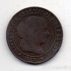 Monedas de España: ISABEL II. 2 1/2 CÉNTIMOS. AÑO 1867. CECA DE BARCELONA.. Lote 139390166