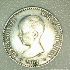 Monedas de España: MONEDA ALFONSO XIII 1892. 50 CENTIMOS. ESTRELLAS 9-2. Lote 139418792