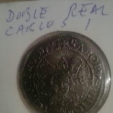 Monedas de España: MONEDA DOBLE REAL CARLOS I,VALENCIA,REPLICA. Lote 139749062