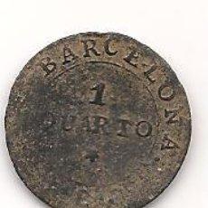 Monedas de España: MONEDA DE 1 QUARTO DE BARCELONA DEL AÑO 1810. Lote 139754510