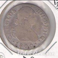 Monedas de España: MONEDA DE 2 REALES DE CARLOS IIII (IV) ACUÑADA EN SEVILLA EN 1800. ENSAYADOR CN. PLATA. MBC- (C4-73). Lote 143156206