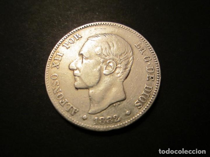 MONEDA DE 2 PESETAS DE 1882 *18-82 ALFONSO XII (Numismática - España Modernas y Contemporáneas - De Isabel II (1.834) a Alfonso XIII (1.931))
