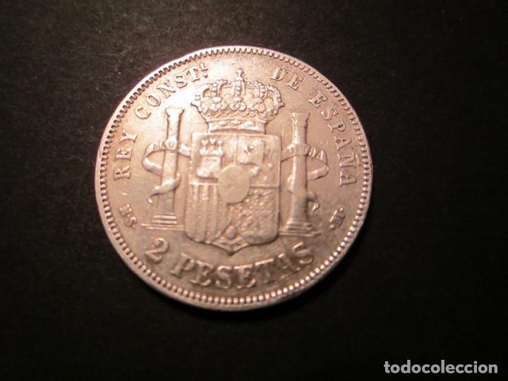 Monedas de España: MONEDA DE 2 PESETAS DE 1882 *18-82 ALFONSO XII - Foto 2 - 139917370