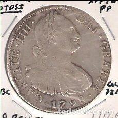 Monedas de España: MONEDA DE 8 REALES DE CARLOS IIII (IV) ACUÑADA EN POTOSÍ EN 1798. ENSAYADOR PP. PLATA. MBC. (C4-105). Lote 139974310