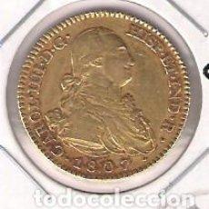 Monedas de España: MONEDA DE 2 ESCUDOS DE CARLOS IIII (IV) ACUÑADA EN MADRID EN 1807. ENSAYADOR AI. ORO. MBC. (C4-119). Lote 139993574
