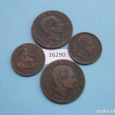 Monedas de España: ESPAÑA, LOTE MONEDAS ANTIGUAS DE COBRE. Lote 140044250