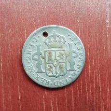 Monedas de España: 2 REALES DE PLATA DE 1800. UTILIZADA PARA COLGAR. Lote 140153594