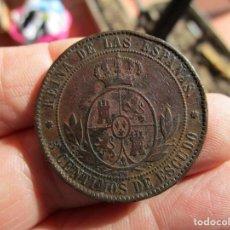 Monedas de España: ISABEL II . 5 CENTIMOS DE ESCUDO . SEVILLA. Lote 140181362