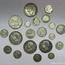 Monedas de España: 20 MONEDAS DE PLATA ESPAÑOLAS ANTIGUAS: GOBIERNO PROVISIONAL, ALFONSO XII Y ALFONSO XIII. LOTE 1334. Lote 140236990