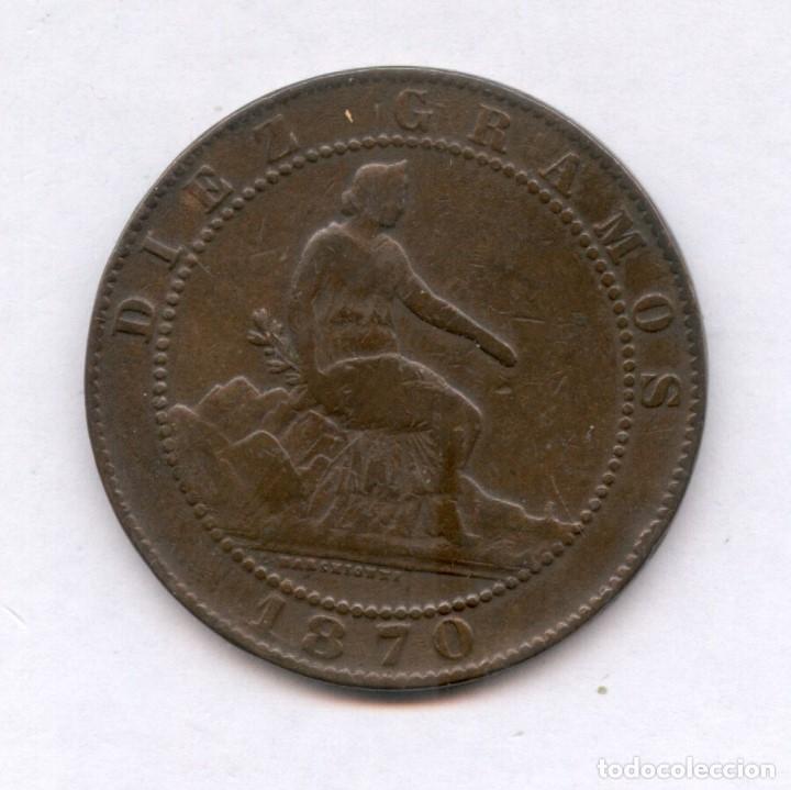 10 CENTIMOS AÑO 1870 PRECIOSA MONEDA, MUCHO MEJOR EN MANO. NUM 2 (Numismática - España Modernas y Contemporáneas - De Isabel II (1.834) a Alfonso XIII (1.931))