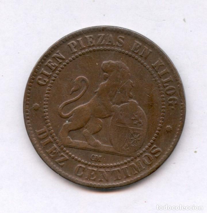 Monedas de España: 10 CENTIMOS AÑO 1870 PRECIOSA MONEDA, MUCHO MEJOR EN MANO. NUM 2 - Foto 2 - 37181466