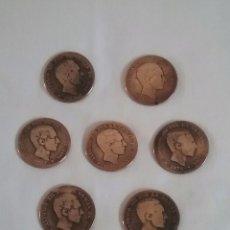 Monedas de España: LOTE 7 MONEDAS DE COBRE.DIEZ CENTIMOS.ALFONSO XII. 1877-1878-1879.. Lote 140502954