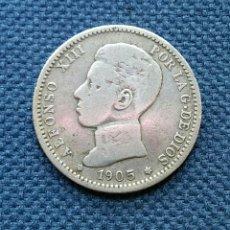 Monedas de España: VALIOSA Y ESCASA 1 PESETA 1905 SM V EN MBC.. Lote 125729811