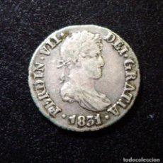 Monedas de España: FERNANDO VII - 1/2 (MEDIO) REAL DE PLATA - SEVILLA 1831 - MUY BONITO. Lote 140775278