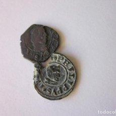 Monedas de España: 2 MONEDAS. 8 MARAVEDÍS FELIPE IV. SEGOVIA 1661 Y SEVILLA (MARTILLO). Lote 223942396