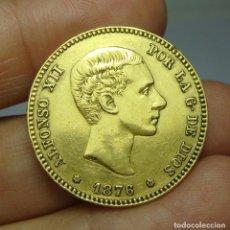 Monedas de España: 25 PESETAS. ORO. ALFONSO XII. 1876 *18 *76. Lote 140857874