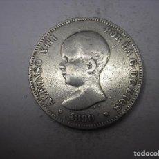 Monedas de España: 5 PESETAS DE PLATA DE 1890. -- --. PGM. REY ALFONSO XIII. Lote 141119018