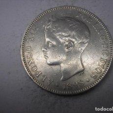 Monedas de España: 5 PESETAS DE PLATA DE 1898 . 18-98.. REY ALFONSO XIII.. Lote 141121194