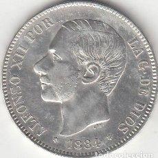 Monedas de España: ALFONSO XII: 5 PESETAS 1884 - ESTRELLAS 18-84 / PLATA. Lote 141274782