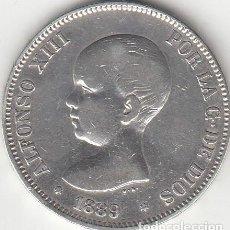 Monedas de España - ALFONSO XIII: 5 PESETAS 1889 - ESTRELLAS 18-89 / PLATA - 141277958